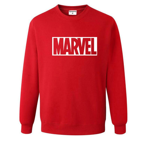 Pull Logo Marvel Original Homme Rouge Blanc - Make It Pop - Boutique