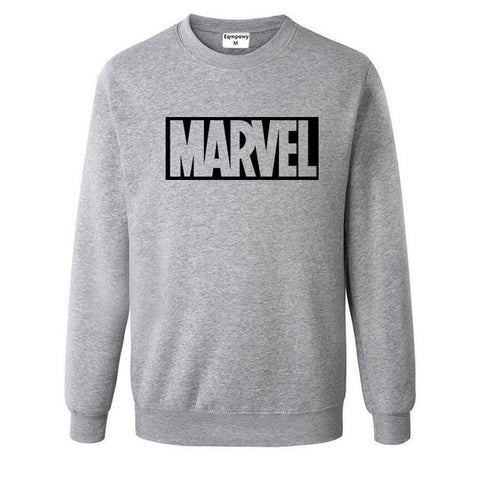 Pull Logo Marvel Original Homme Gris Noir - Make It Pop - Boutique