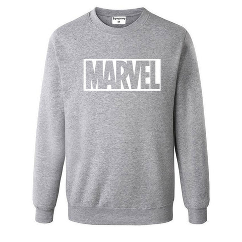 Pull Logo Marvel Original Homme Gris Blanc - Make It Pop - Boutique