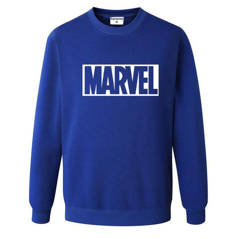 Pull Logo Marvel Original Homme Bleu Blanc - Make It Pop - Boutique