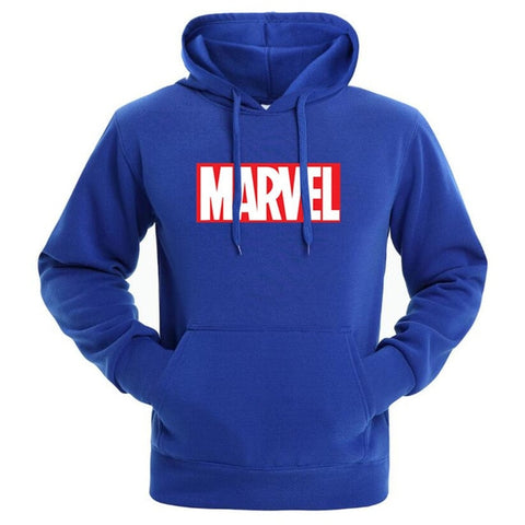 Sweat Hoodie Logo Marvel Original Homme Bleu Rouge et Blanc - Make It Pop - Boutique