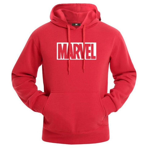 Sweat Hoodie Logo Marvel Original Homme Rouge Blanc - Make It Pop - Boutique