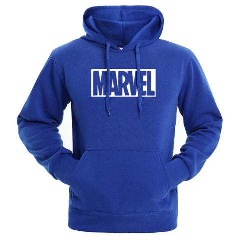 Sweat Hoodie Logo Marvel Original Homme Bleu Blanc - Make It Pop - Boutique