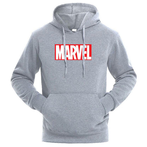 Sweat Hoodie Logo Marvel Original Homme Gris Rouge et Blanc - Make It Pop - Boutique
