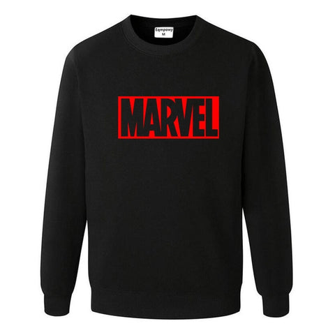 Pull Logo Marvel Original Homme Noir Rouge - Make It Pop - Boutique