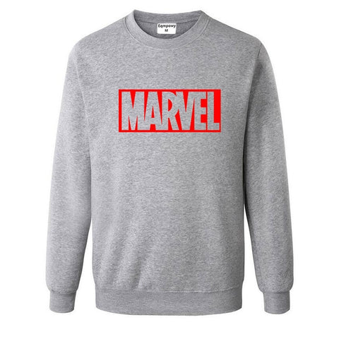 Pull Logo Marvel Original Homme Gris Rouge - Make It Pop - Boutique
