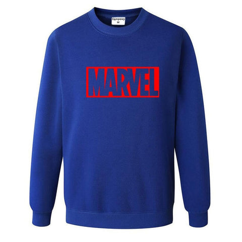 Pull Logo Marvel Original Homme Bleu Rouge - Make It Pop - Boutique