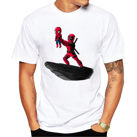 T-Shirt Deadpool x Spiderman Crossover Le Roi Lion Homme - Make It Pop - Boutique
