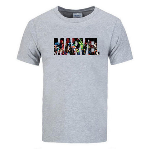 T-Shirt Logo Marvel Stylisé Homme - Make It Pop - Boutique