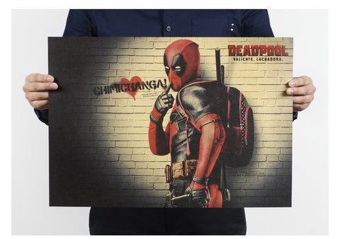 Poster Sticker Mural Autocollant Deadpool Chimichanga Marvel - Make It Pop - Boutique