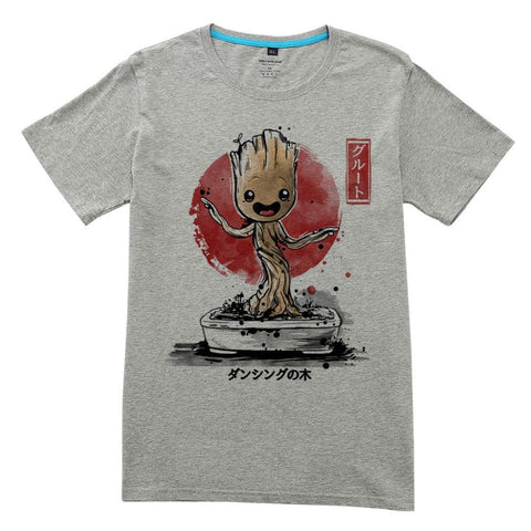 T-Shirt Bébé Groot Dans Son Pot Dessin Homme - Make It Pop - Boutique