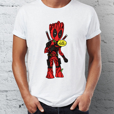 T-Shirt Groot Deadpool Crossover I Am Pool Homme - Make It Pop - Boutique