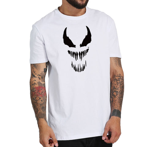T-Shirt Venom Visage Yeux Noir et Blanc Homme - Make It Pop - Boutique