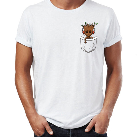 T-Shirt Bébé Groot dans la Poche Homme - Make It Pop - Boutique