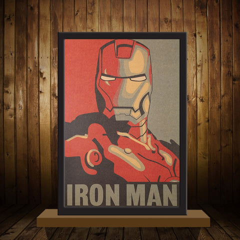 Poster Sticker Mural Autocollant Iron Man Marvel style Retro Vintage - Make It Pop - Boutique