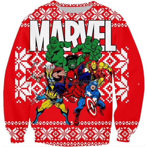 Pull de Noël Marvel Vintage Rouge - Make It Pop - Boutique