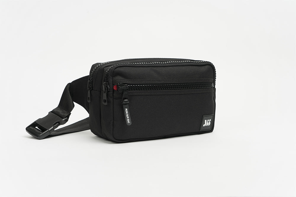BLACK DOUBLE BUMBAG