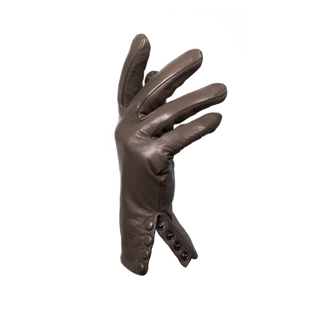 GLOVES L. BUTTON BROWN