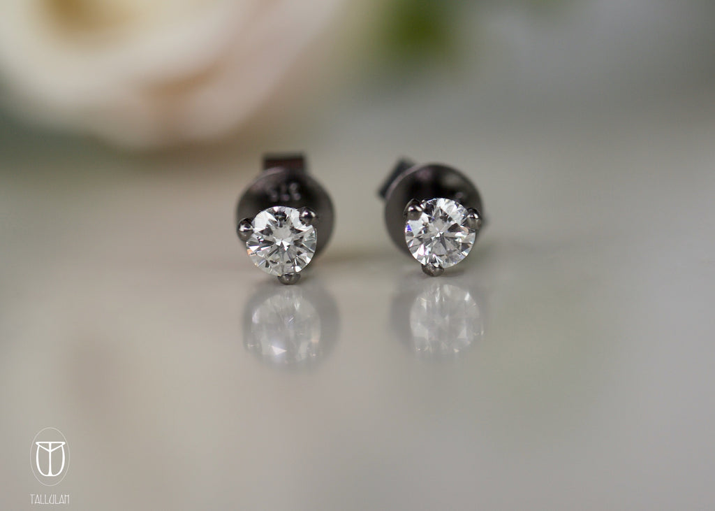 AMARA black diamond studs