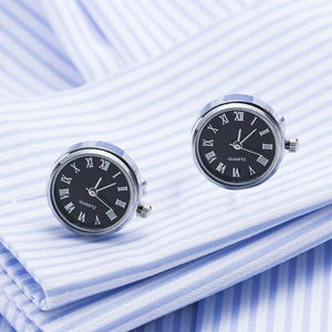 Real Watch Cufflinks With Battery - The Fine Man Shop
