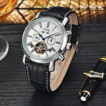 Load image into Gallery viewer, Luxury Mechanical With Power Reserve and Leather Band Watch - The Fine Man Shop