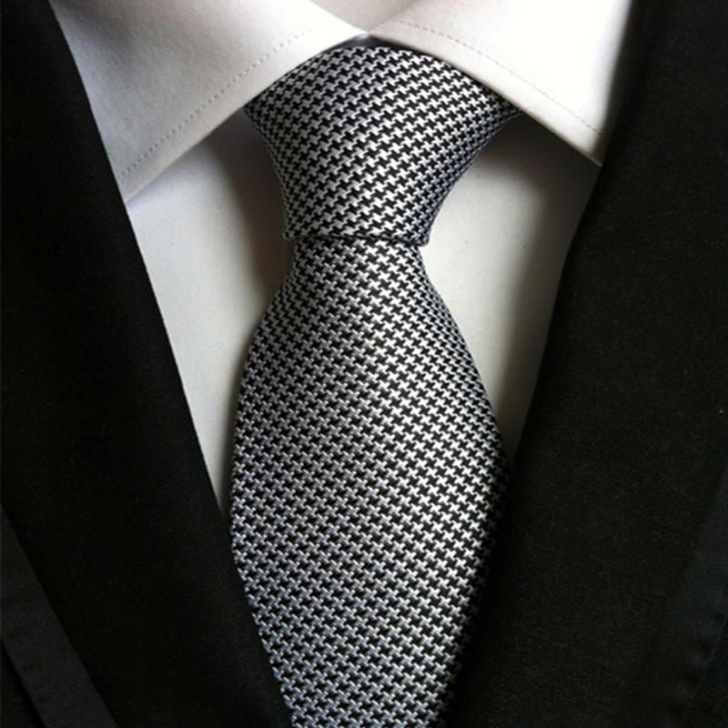 Classic Houndstooth Silk Tie - The Fine Man Shop