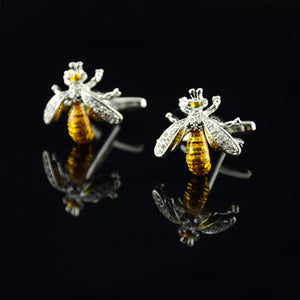 Mens Bee Exquisite Cufflinks - The Fine Man Shop