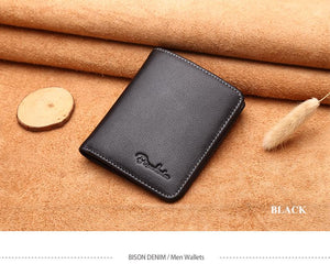 Genuine Leather Thin Wallet - The Fine Man Shop