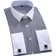 Load image into Gallery viewer, Slim Fit French Cuff Dress Shirts - The Fine Man Shop
