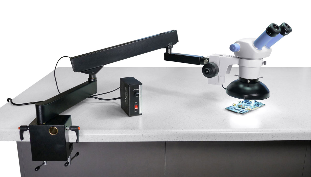 Stereo Microscope with Articulating Flexible Arm