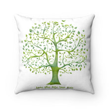 Load image into Gallery viewer, Faux Suede Square Pillow - Love the life you live