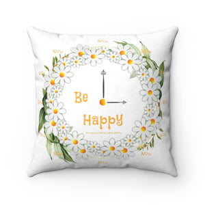 Faux Suede Square Pillow Case - Be Happy Now