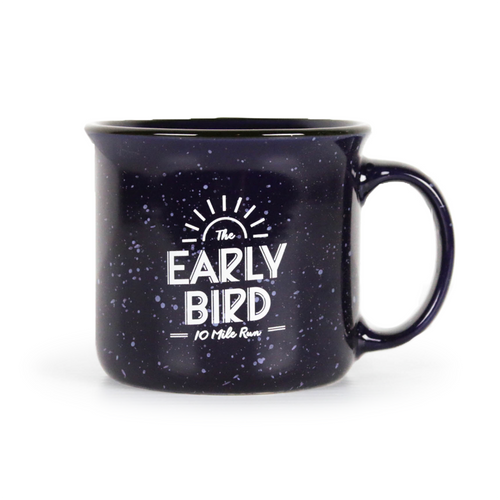 Early Bird Blue Camp Fire Mug