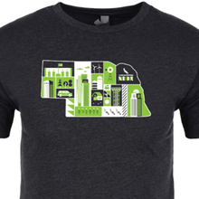 Load image into Gallery viewer, M2M Charcoal Nebraska Tee