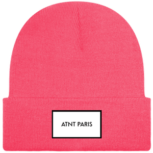 ATNT PARIS - BONNET A REVERS ROSE FLUO
