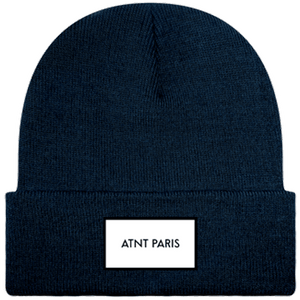 ATNT PARIS - BONNET A REVERS NAVY