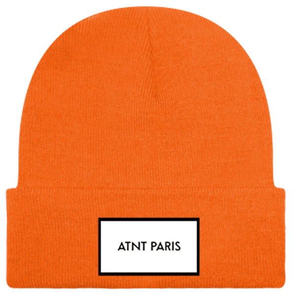 BONNET A REVERS ORANGE FLUO