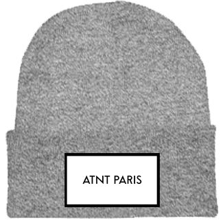 ATNT PARIS - BONNET A REVERS GRIS CHINE