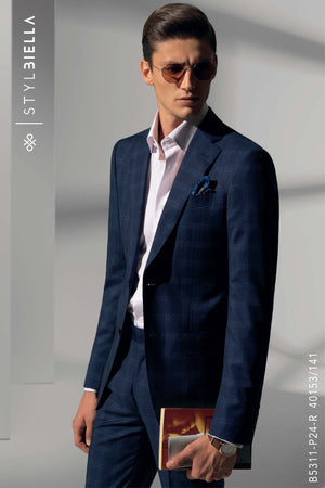 *STYLBIELLA* Dark Blue Custom Suit