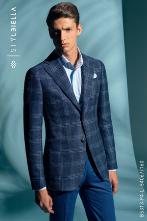 *STYLBIELLA* Bark Blue Suit Blazer
