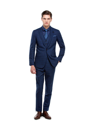 Navy suit custom made ottotos