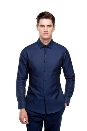Custom Dark Blue Shirt ottotos