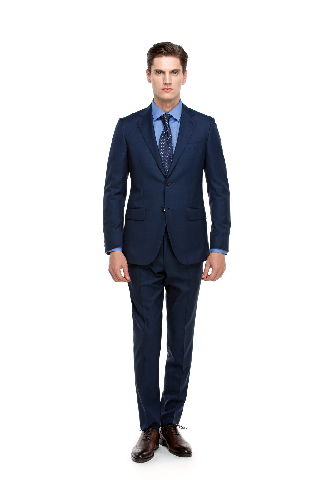 Custom Navy Blue Signature Suit ottotos