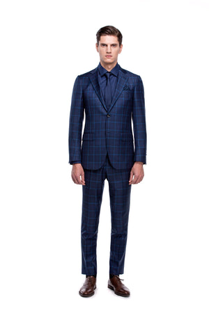 Custom Dark Blue Signature Suit - ottotos