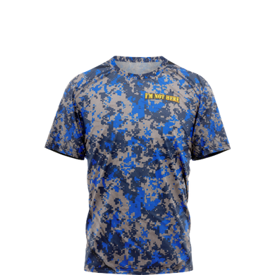Blue Digital Camo Shirt