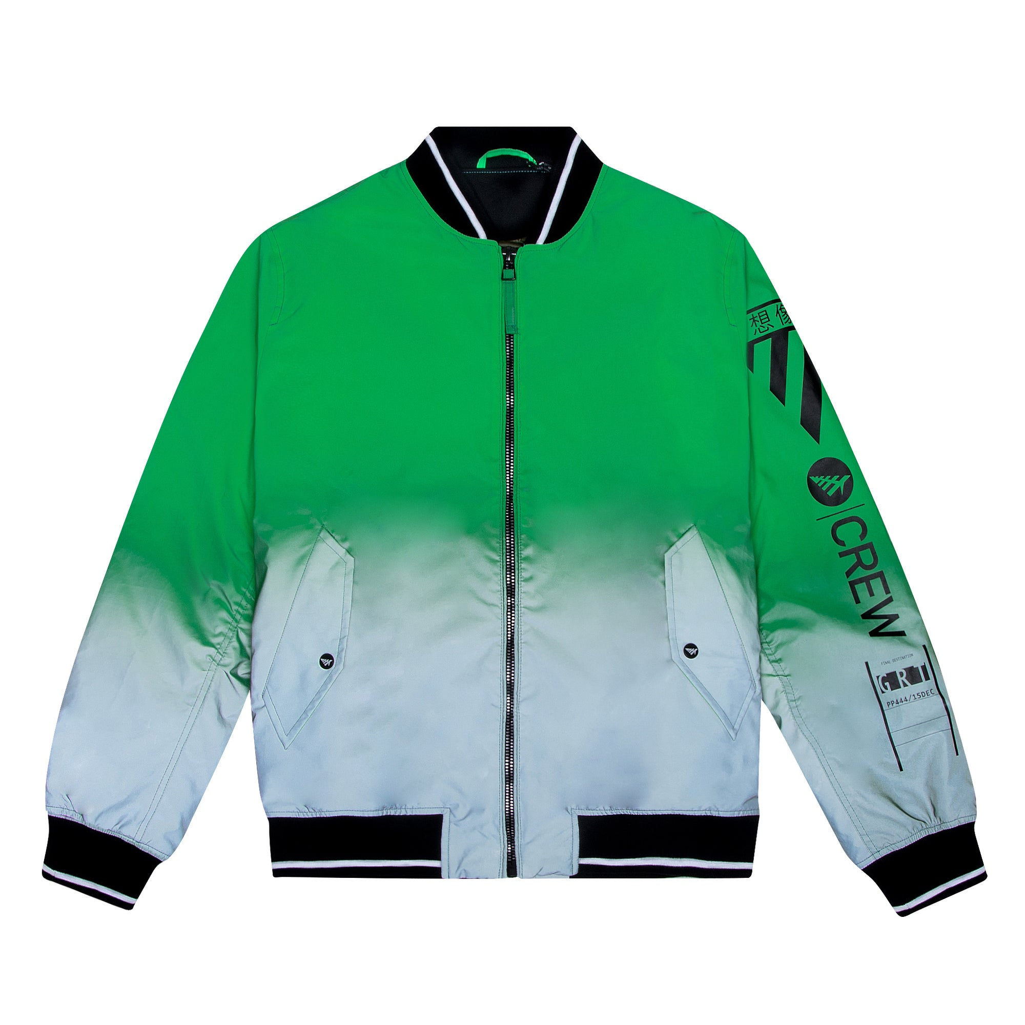 Green Star Bomber Jacket