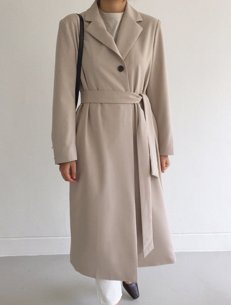 long spring jacket with belt locolips
