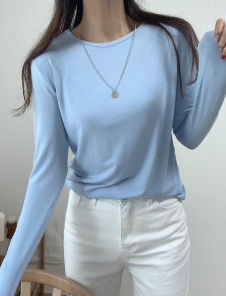 Rayon and spandex long sleeve tops - LOCOLIPS