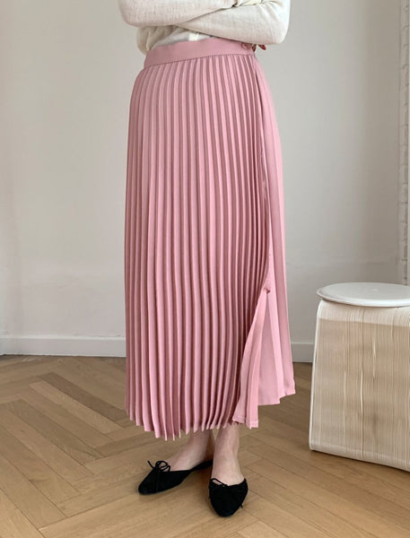 Coloring Pleated Long Skirt