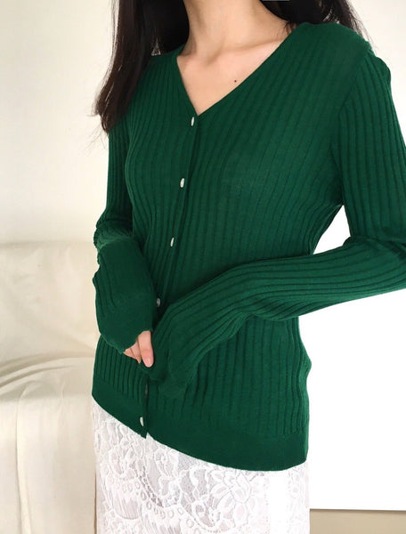 Ribbed open cardigan sweater - LOCOLIPS